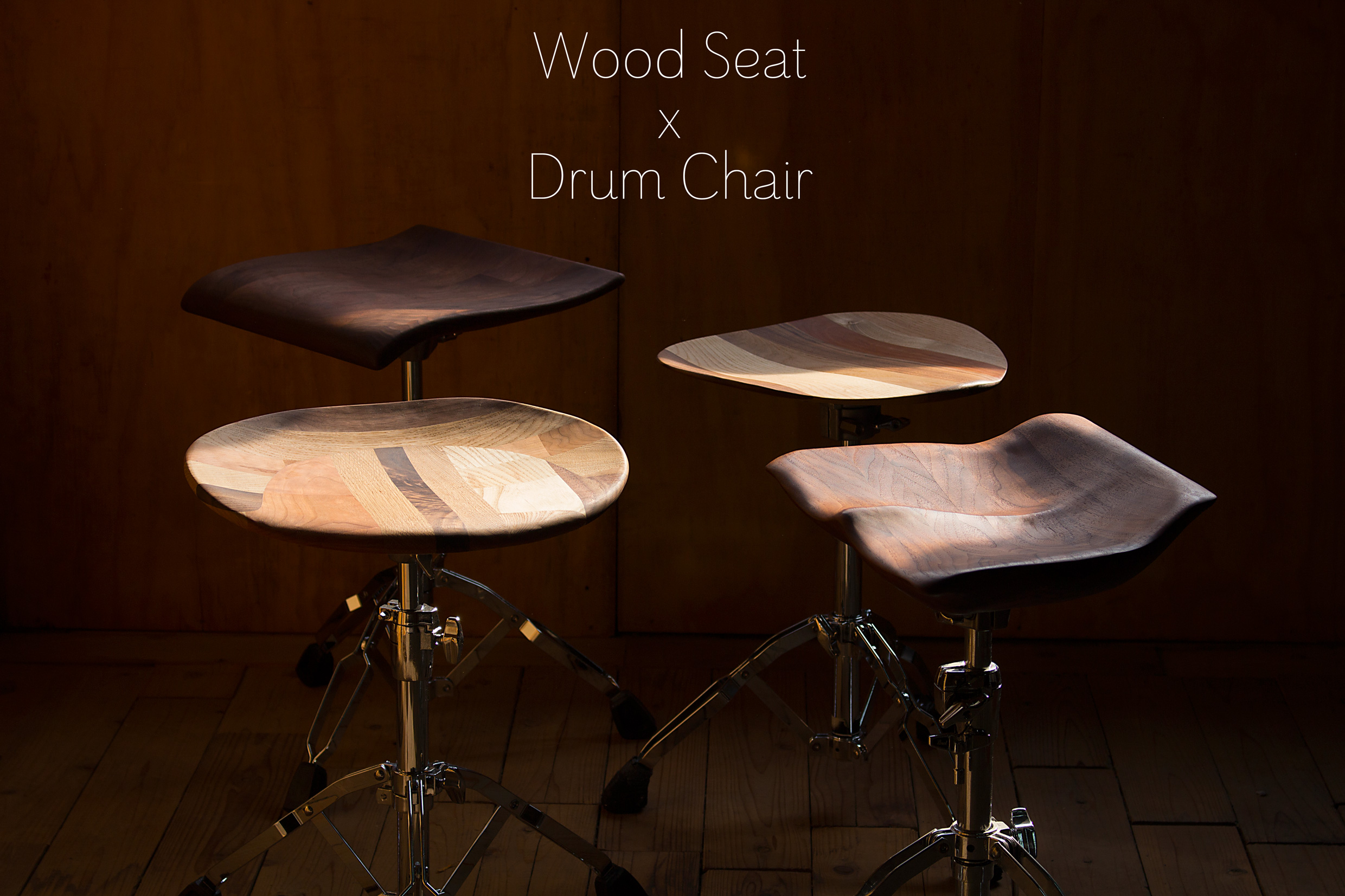 Wood Seat x Steal Chair
